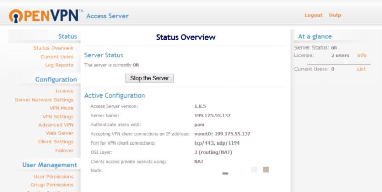 OpenVPN installed on a VPS