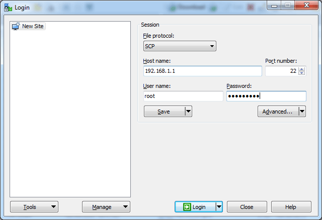 Accessing DD-WRT Through WinSCP