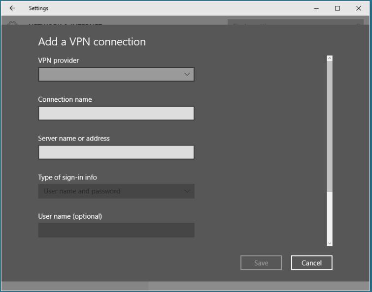 Windows VPN Setup