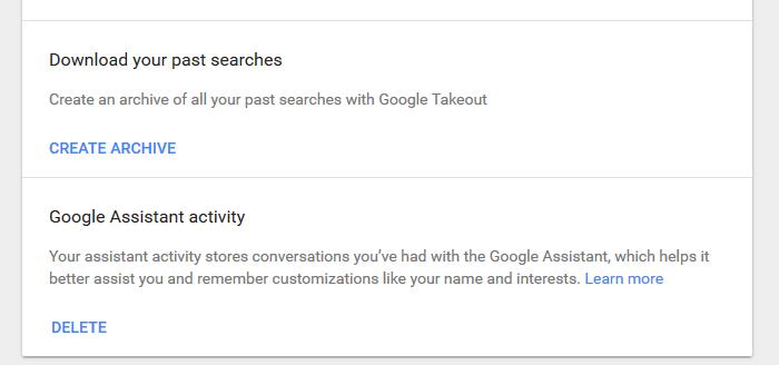 create Google archive