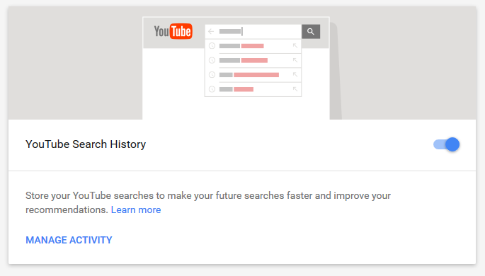 delete YouTube history