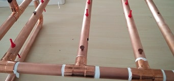 Copper tube assembly