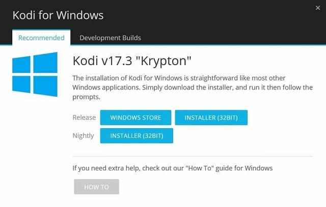 Kodi Windows Installation