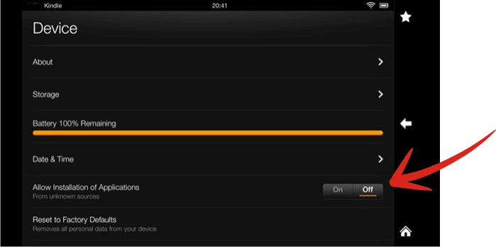 install a VPN on Kindle Fire