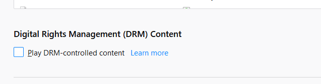 Firefox DRM Content