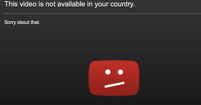 YouTube video blocked