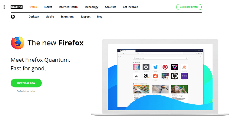 Most Secure Browser - Firefox