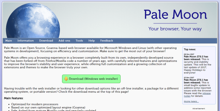 Pale Moon Private Browser