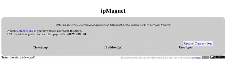 IPMagnet - Torrent IP Address Checker