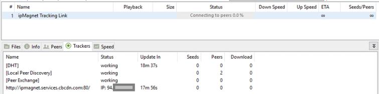 Torrent IP Address Tracking Link