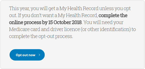 My Health Record Opt Out Image