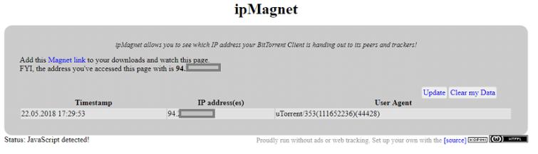 IPMagnet Torrent IP Check