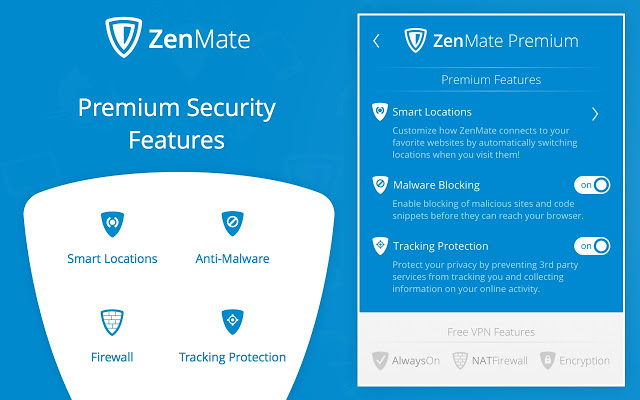 ZenMate Features preview