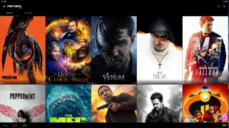 Movie Box homepage