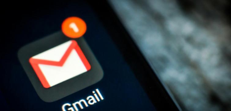 Gmail App on smartphone