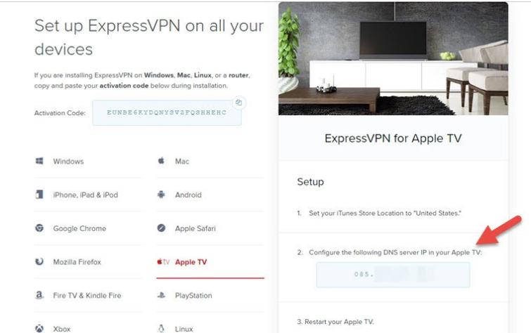 change DNS settings expressvpn